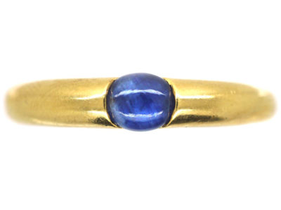 18ct Gold & Cabochon Sapphire Ring