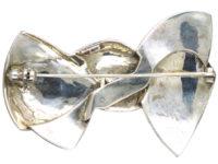 Art Deco Silver & Marcasite Bow Brooch by Theodor Fahrner