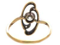Art Nouveau 18ct Gold & Diamond Ring
