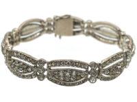 Art Deco Silver & Paste Bracelet