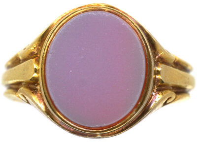 Victorian 18ct Gold Signet Ring set with a Carnelian