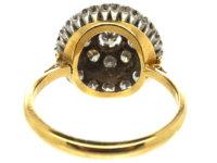 18ct Gold & Diamond Three Row Cluster Ring
