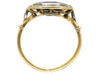 Art Deco 18ct Gold & Platinum, Sapphire & Diamond Octagonal Ring