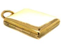 Victorian 18ct Gold Rectangular Double Opening Locket