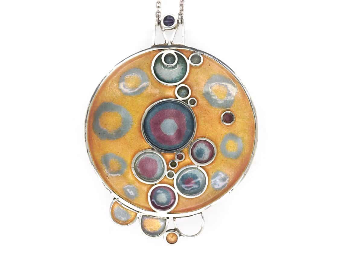 Norman Grant Silver & Enamel Necklace