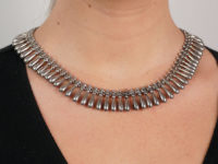 Victorian Silver Collar with Pear Shaped Drops