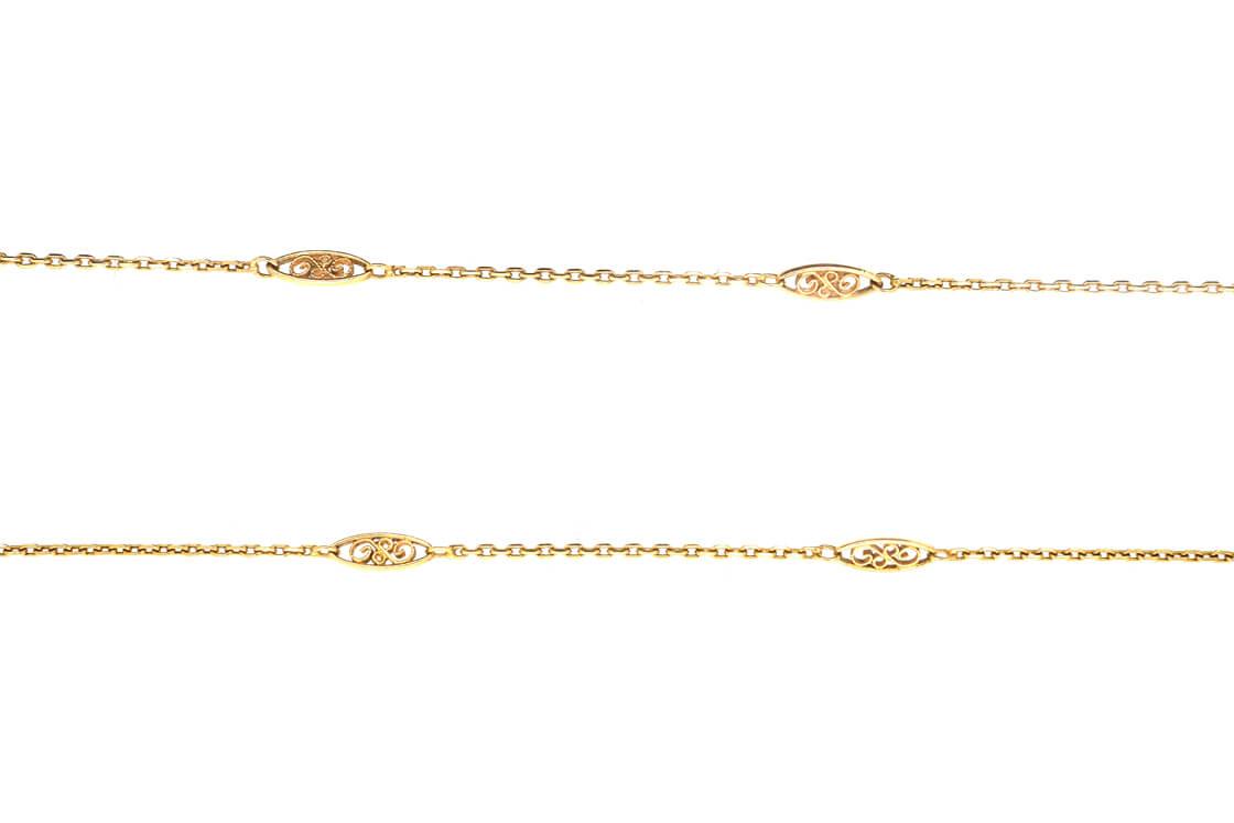 Art Nouveau 18ct Gold Chain