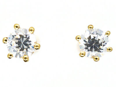 18ct Gold Small Diamond Stud Earrings