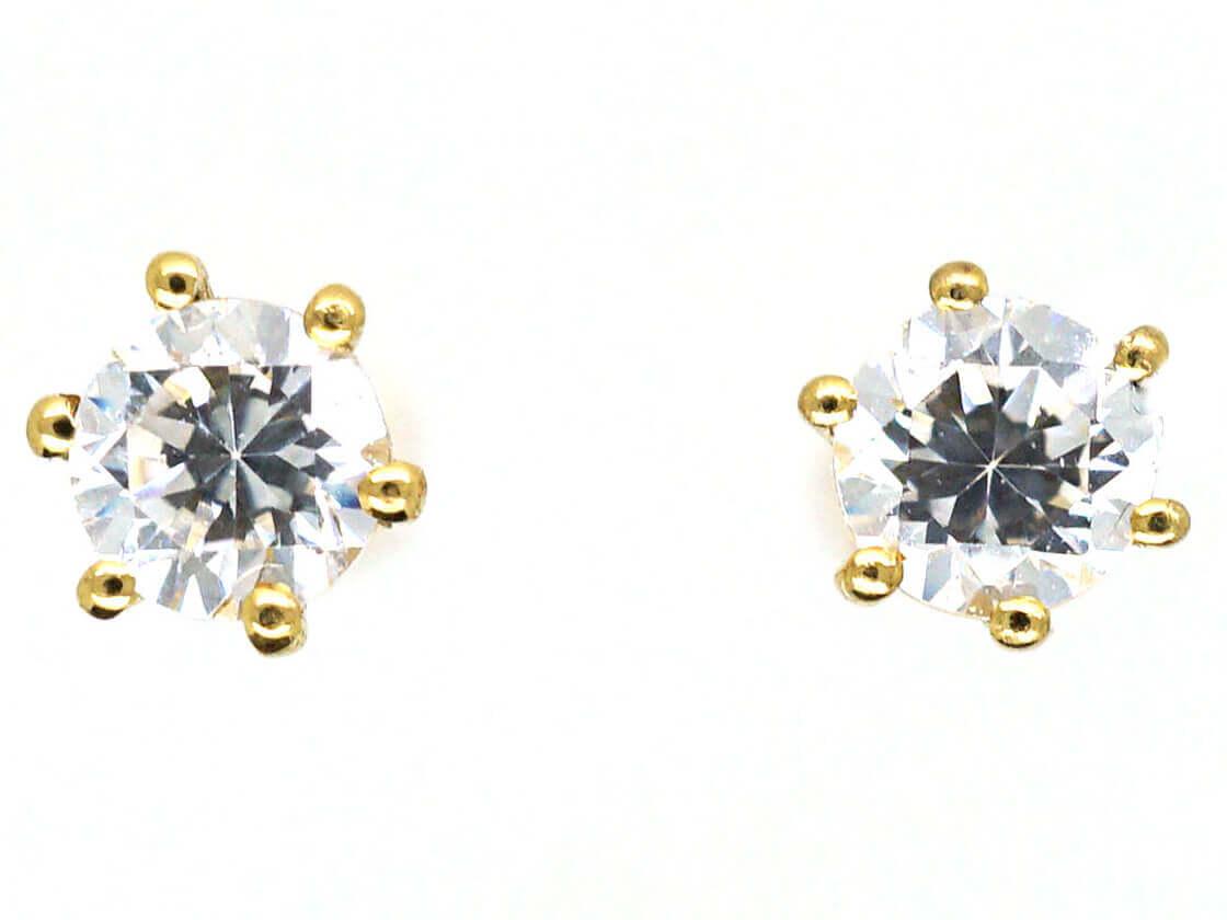 18ct Gold Small Diamond Stud Earrings