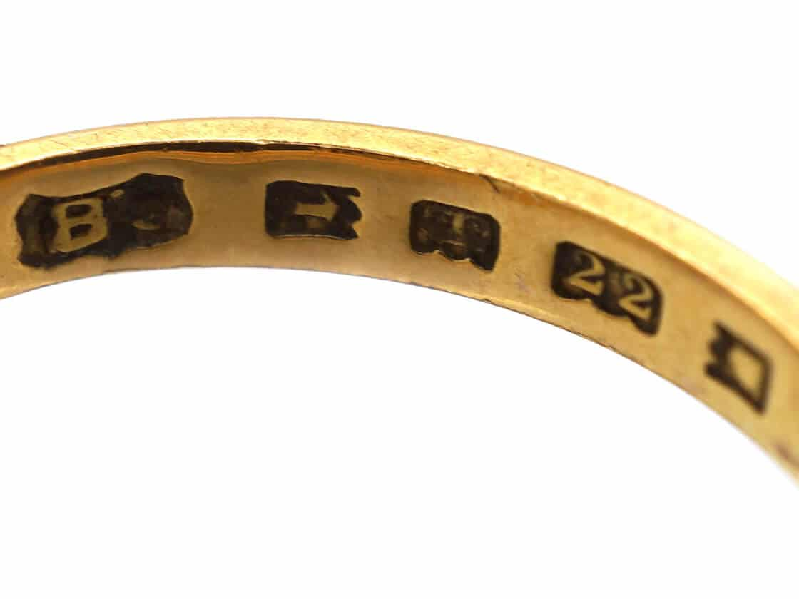 Hallmarks on a gold ring