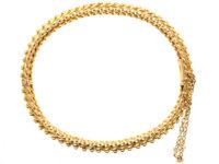 Victorian 15ct Gold Woven Design Bangle