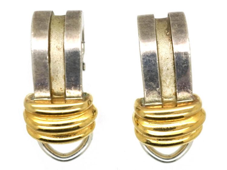 Tiffany Silver Gold Earrings The