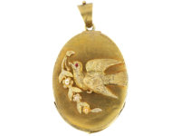 Victorian 15ct Gold Locket Pendant with Seven Compartments