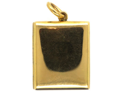 Victorian 18ct Gold Rectangular Double Opening Locket
