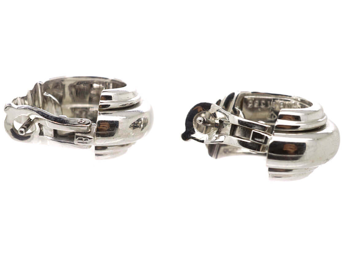 18ct White Gold & Diamond Earrings by Piaget