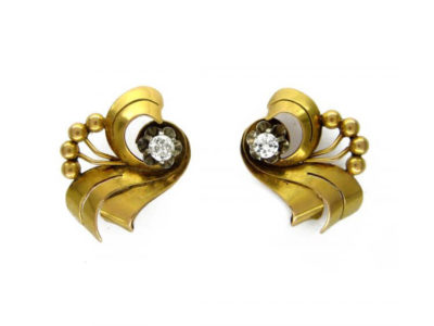 18ct Gold & Diamond Spray Earrings