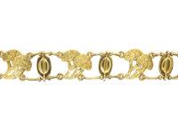 Edwardian 18ct Gold Coffee Bean Bracelet in original box