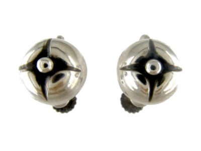 Georg Jensen Silver Screw on Earrings