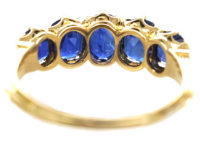 Victorian 18ct Gold & Sapphire Five Stone Ring