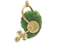 15ct Gold, Jade & Pearl Pendant
