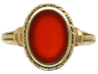 Early 20th Century Gold & Carnelian Signet Ring