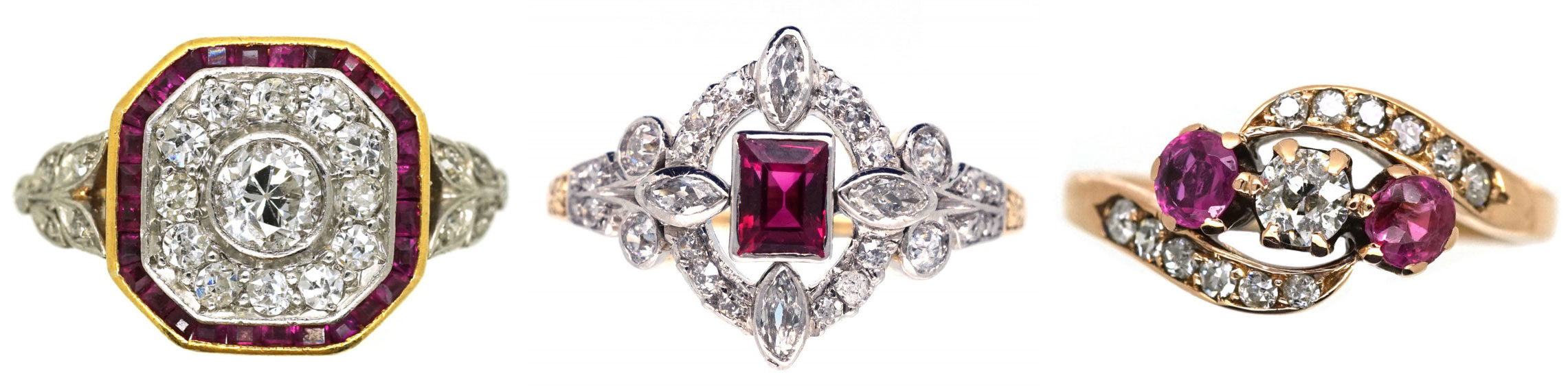 Ruby rings come in a variety of designs
