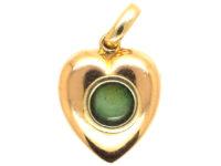 Edwardian 15ct Gold, Natural Split Pearl, Sapphire & Diamond Heart Shaped Pendant