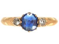 Edwardian 18ct Gold, Sapphire & Diamond Ring