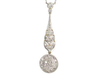Art Deco Diamond Pendant in Original Case