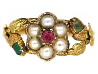 Antique jewellery acorn
