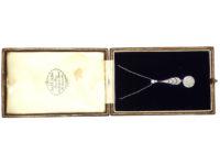 Art Deco Diamond Pendant in Original Case