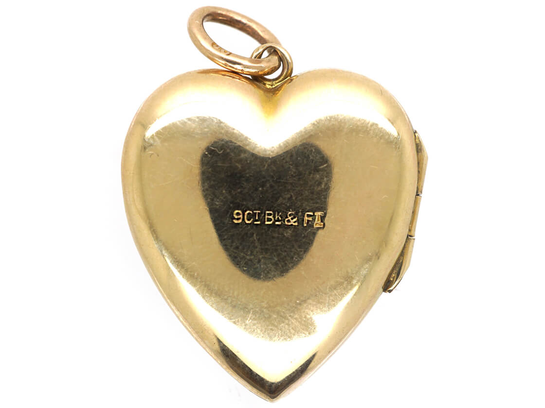 9ct Back & Front Heart Locket