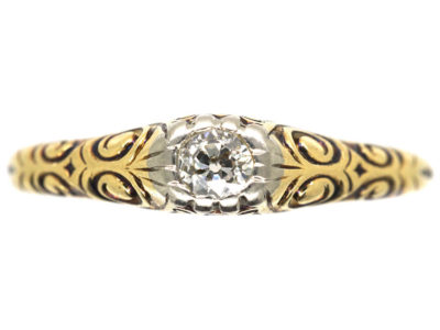 Art Deco 14ct Gold & Diamond Ring
