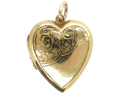 9ct Back & Front Heart Locket