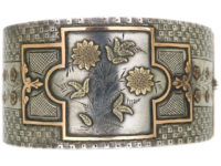 Victorian Silver & Two Colour Gold Overlay Bangle