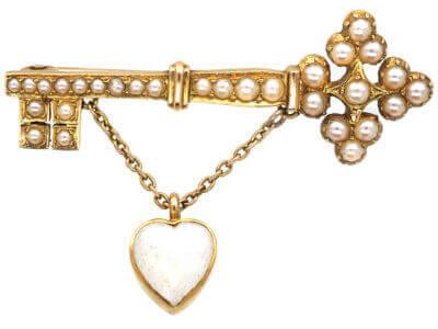Antique jewellery keys