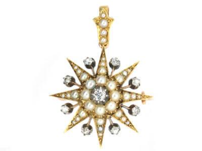 Antique jewellery star
