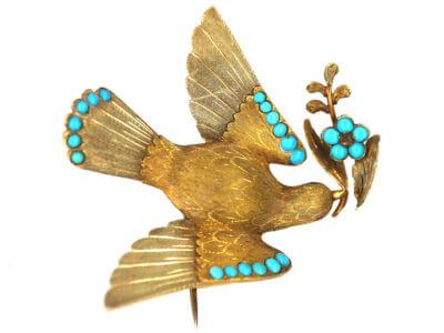 Antique jewellery dove