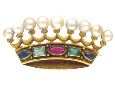 Antique jewellery crown
