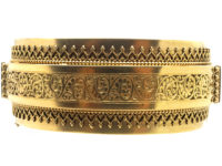 Victorian 15ct Gold Wide Bangle