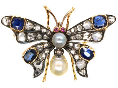 Antique jewellery butterfly