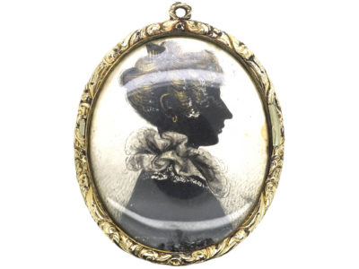 Georgian Silhouette of Lady Pendant