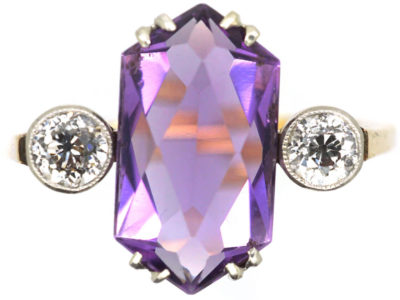 Art Deco Amethyst & Diamond Ring