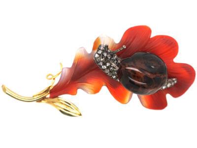 Antique jewellery snail
