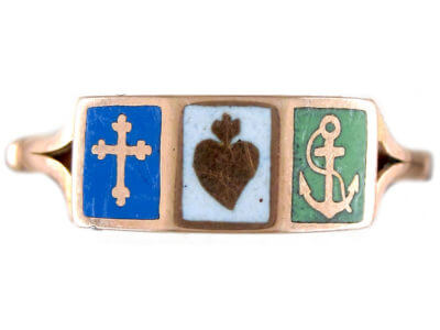 Antique jewellery faith hope and charity
