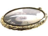 Georgian Silhouette of Lady Pendant