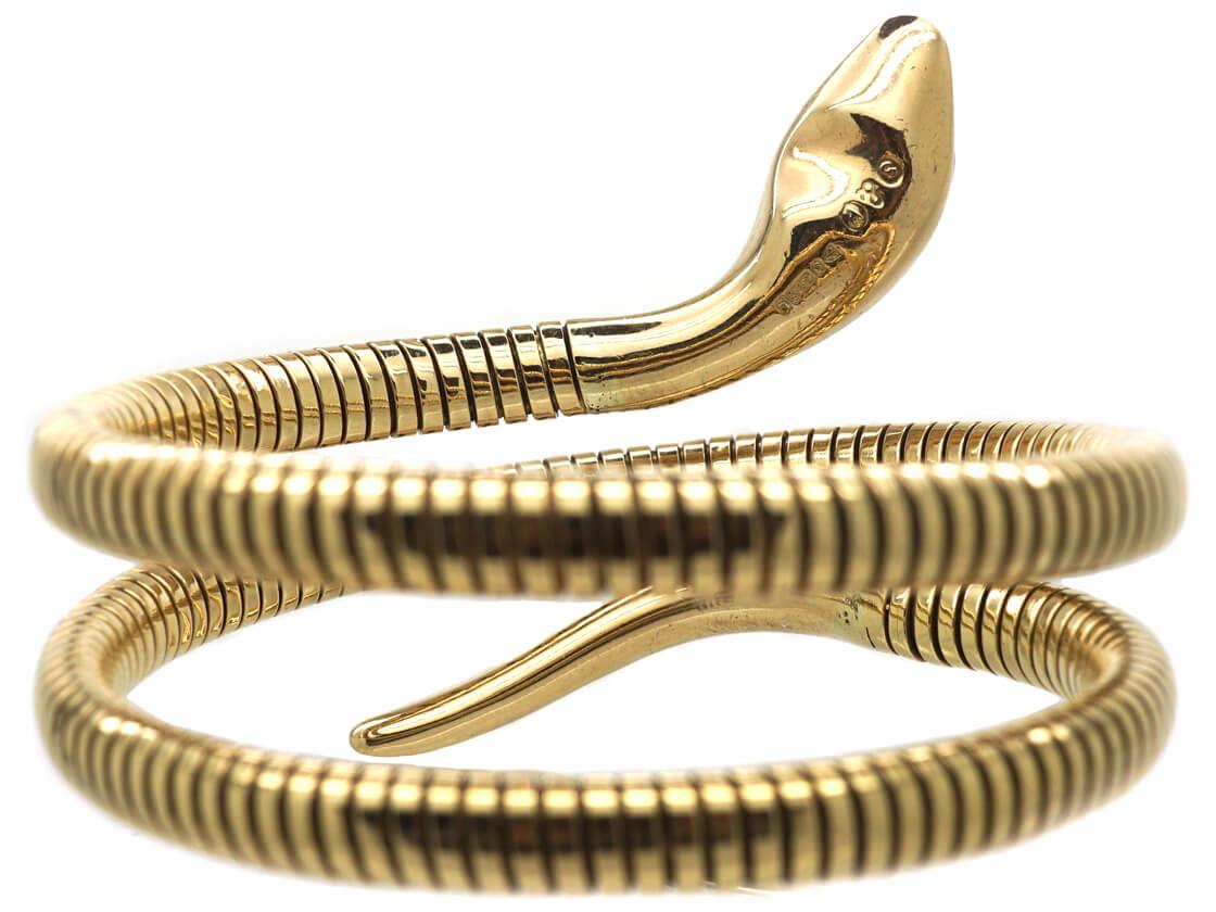 9ct Gold Snake Bangle