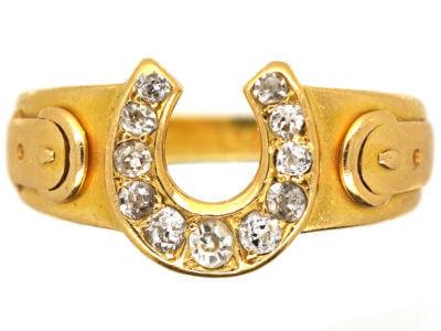 Antique jewellery horseshoe