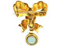 Victorian 15ct Gold Bow Brooch with Locket