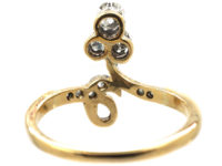 Art Nouveau 18ct Gold & Platinum Three Stone Diamond Ring